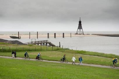 Der Elberadweg in Cuxhaven