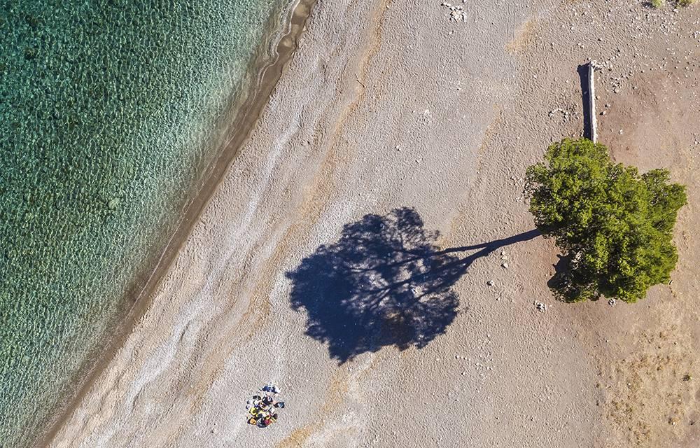 Auch während der Hochsaison ist ein kaum besuchter Strand Cala Tuent