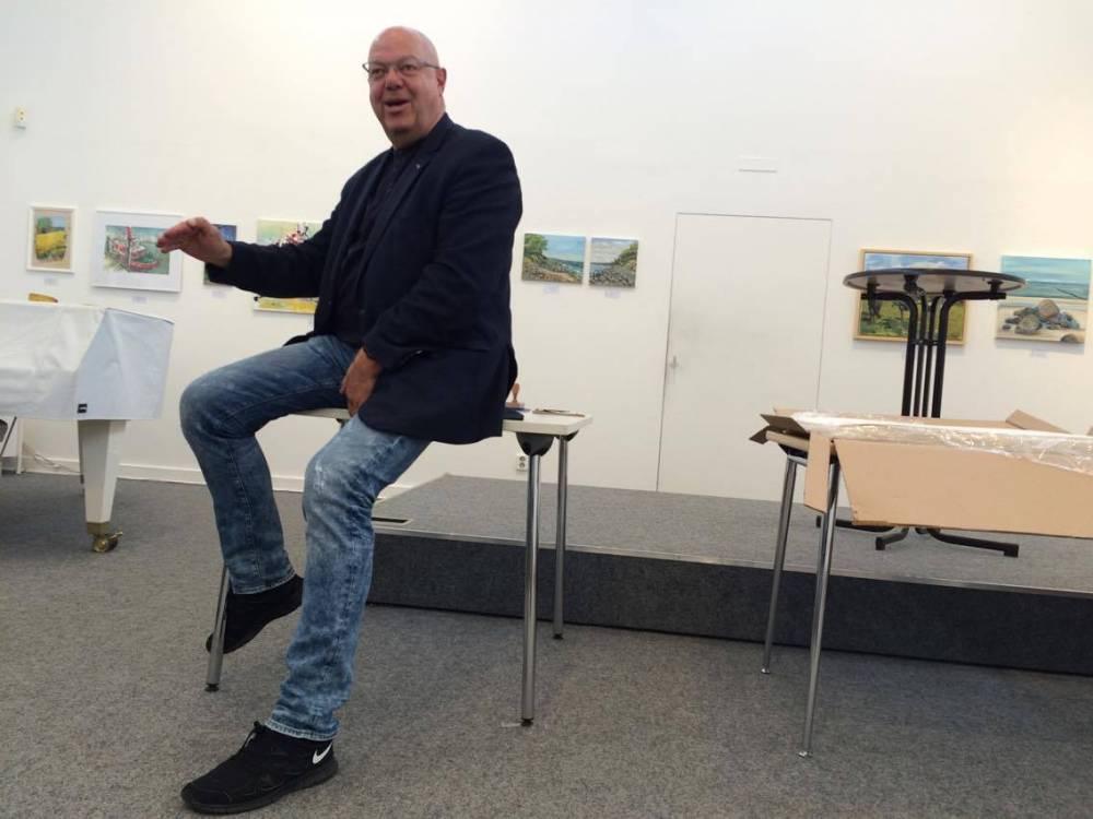 Franz Norbert Kröger, director de la Kunsthalle, organiza ocho exposiciones al año, entre otras cosas