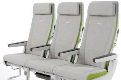 Schmale Silhouette: Das Modell CL3710 von Recaro macht sich dünne – und bietet den Fluggästen so mehr Beinfreiheit