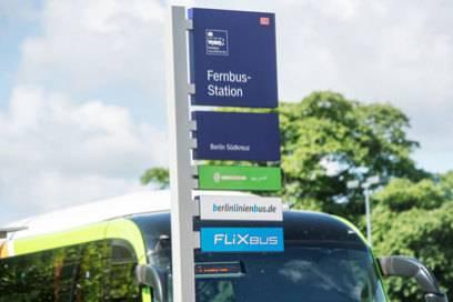 Harter Konkurrenzkampf: Viele Busunternehmen teilen sich oft eine Fernbus-Haltestelle