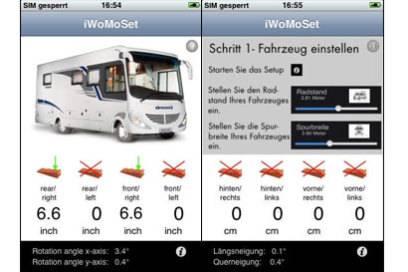 """Eine mobile Wasserwaage für unterwegs ist zum Beispiel die App """"iWoMoSet"""""""