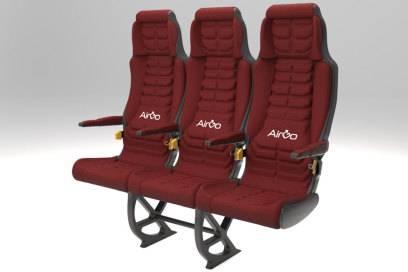 Mehr Platz bei gleicher Raumnutzung: So sähe für Airgo der ideale Flugzeugsitz aus