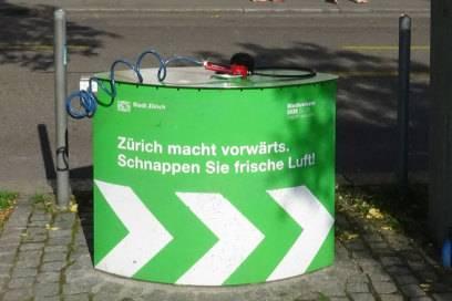 Auch die Luft ist gratis in Zürich, sogar für Fahrräder