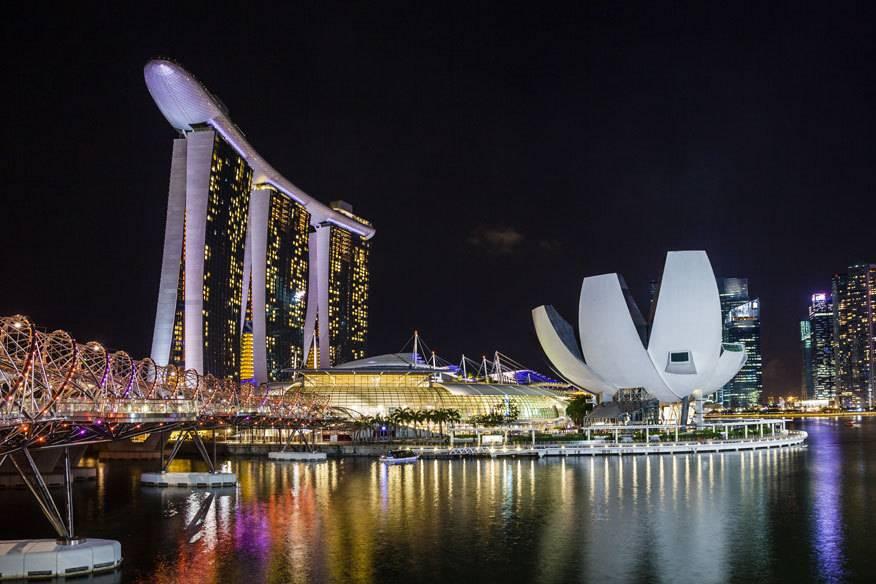 Das Marina Sands Bay in Singapur ist eins der Hotels, in das die meisten Millionäre innerhalb eines Jahres eincheckten