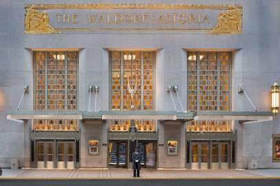 Das Waldorf Astoria in New York City landete im Reiche-Gäste-Ranking auf dem vierten Platz