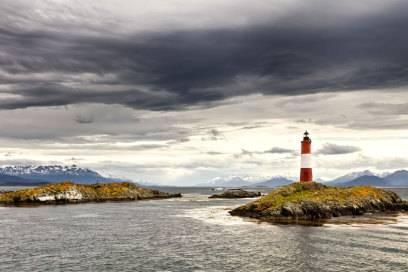 """Leuchtturm am Ende der Welt wird der """"Les Éclaireurs"""" bei Ushuaia in Feuerland von den Argentiniern bezeichnet"""