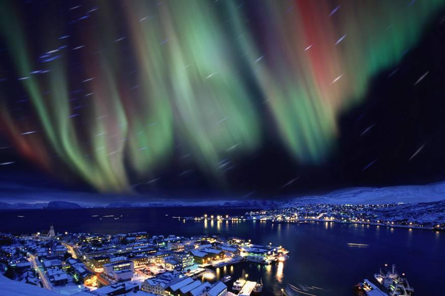 Nordlichter über Hammerfest, Norwegen