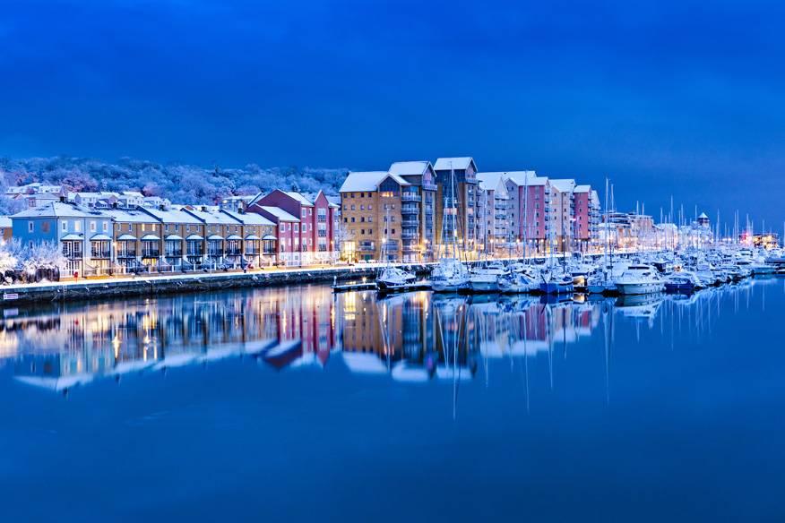 Hafen von Portishead, England.