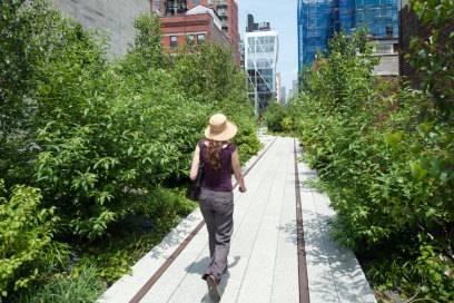 Ein Park über dem Straßenpflaster: die High Line in New York