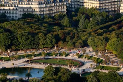 Leistet seinen Beitrag zum romantischen Image der Stadt: der Jardin du Luxembourg im Quartier Latin in Paris