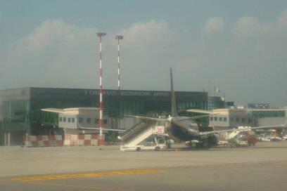 Der Flughafen von Bergamo