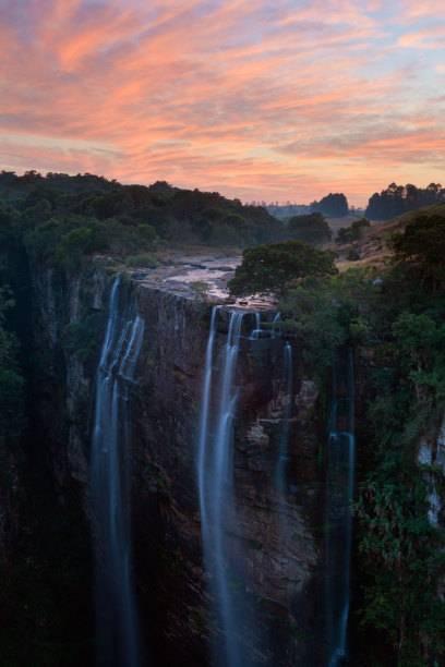 Die Magwa-Wasserfälle in Pondoland, Ostkap