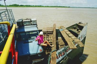 """Christine Holtorf und """"Otto"""" in brasilianischen Gewässern, 1999"""