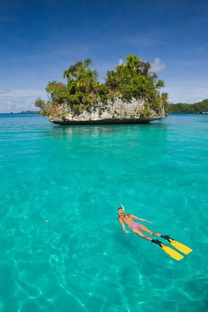 Die meisten Inseln von Palau sind kaum größer als ein Dorfplatz