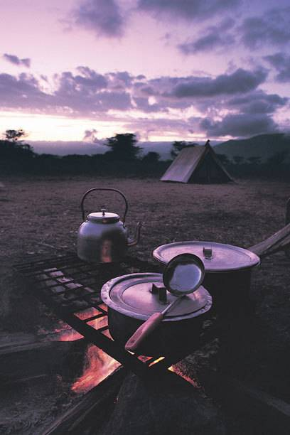 Wer kein Gas oder Strom hat, kann auch Holz sammeln und sein Essen über einer Feuerstelle zubereiten – sofern es dort erlaubt ist