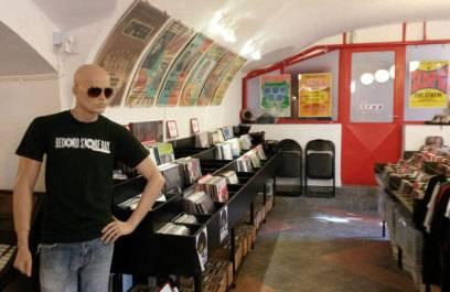 Schallplattenladen Musicland in Budapest