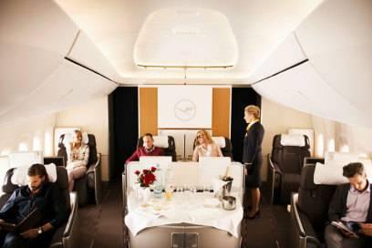 Die First Class der Lufthansa wurde im Ranking von Skytrax mit 5 von 5 möglichen Sternen ausgezeichnet