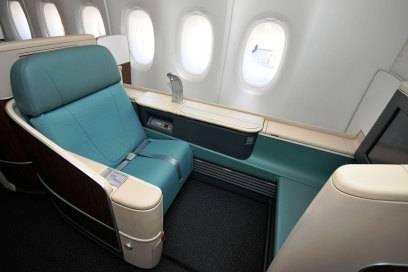 Viel Platz bietet natürlich auch die First Class von Korean Air