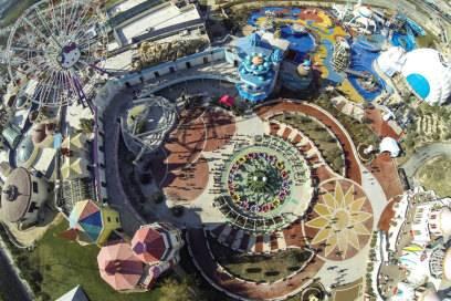 Hello-Kitty-Park in Anji aus der Luft betrachtet