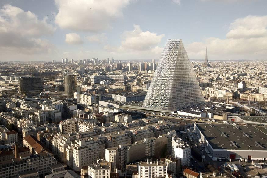 """Gebaut werden soll der Tour Triangle (""""Dreiecksturm"""") im Südwesten der Stadt auf dem Messegelände an der Porte de Versailles"""