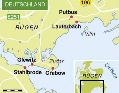 Die Halbinsel Zudar und das Örtchen Putbus im Süden von Rügen sind eine Reise Wert