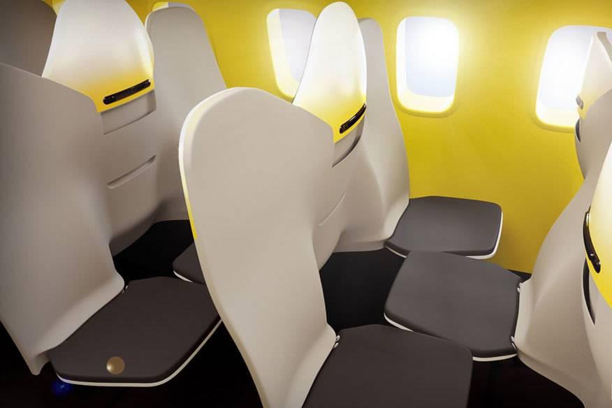 Das sieht doch kuschelig aus: Sitzreihenkonzept HD31-3 von Zodiac Aerospace