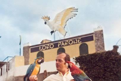 Wolfgang Kiessling in den 70er Jahren vor seinem Loro Parque