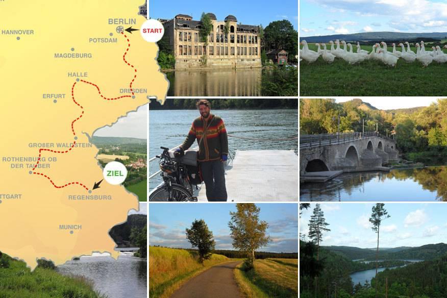 Unser Autor Robin hat viel gesehen und viel erlebt auf seiner Radtour, die ihn etwa 1000 Kilometer durch Deutschland führte