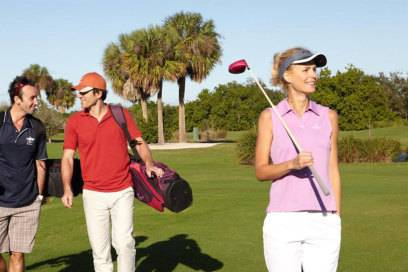 Sport ist im Cluburlaub immer wichtiger: Der Club Med bietet in einigenAnlagen zum Beispiel Golf an