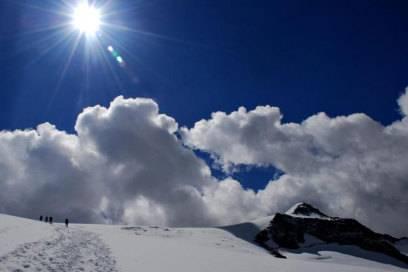 Gar nicht mal so steil: Aufstieg auf den Schwarzenstein über den Gletscher