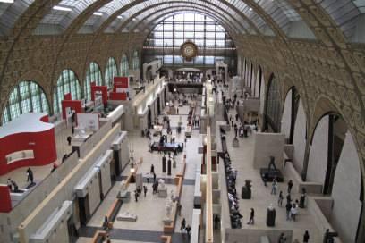 Noch heute ist die Bahnhofsarchitektur des Musée d'Orsay deutlich erkennbar