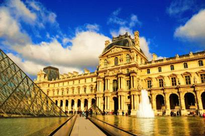 Das Louvre von außen