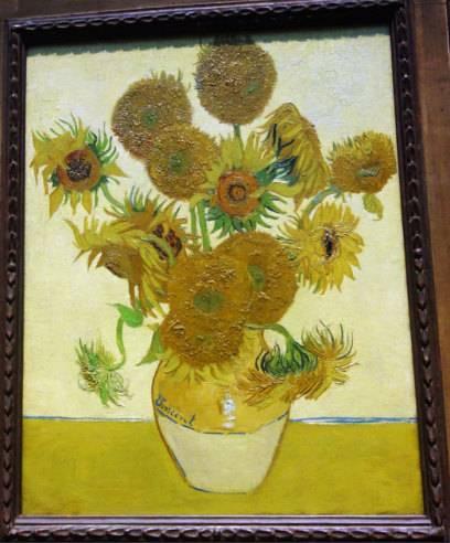 """Unter anderem kann man das Gemälde """"Fünfzehn Sonnenblumen"""" von Vincent van Gogh in der National Gallery bestaunen"""