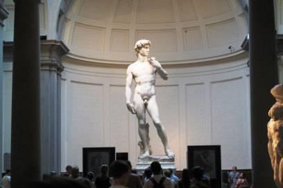Eine der berühmtesten Statuen der Welt: der David von Michelangelo