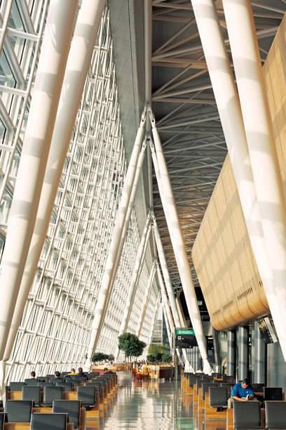 Oft gelobt: die Architektur des Airports