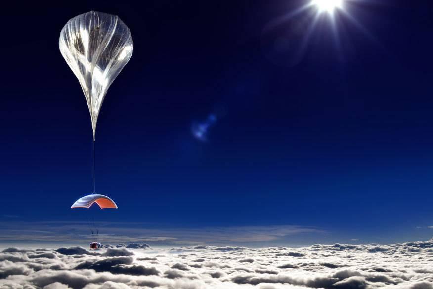 In einem Heliumballon durch die Stratosphäre schweben –55.000 Euro soll der Ausflug pro Person kosten, buchbar vermutlich ab 2016.