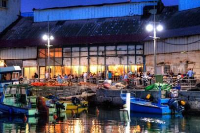 Das Fisch-Restaurant Container im alten Hafen von Jaffa