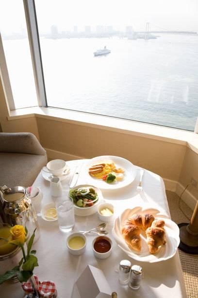 Hotelfrühstück in Tokio