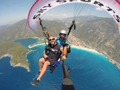 Fallschirm an der lykischen Küste