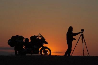 Michael Martin ist in den Trockenwüsten der Welt am liebsten mit dem Motorrad unterwegs