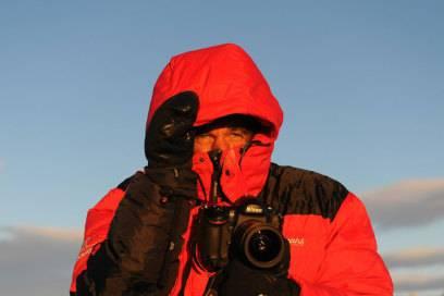 Bei minus 30 Grad gucken bei Michael Martin nur die die Augen raus.
