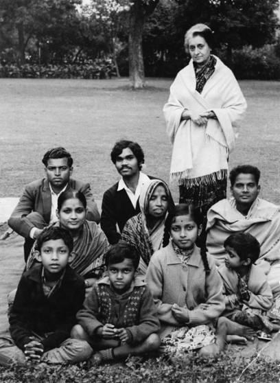 Mit Freunden aus Orissa zu Besuch bei Premierministerin Indira Gandhi