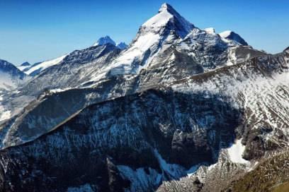Panoramablick über den : In der Bildmitte ragt das Große Wiesbachhorn in die Höhe