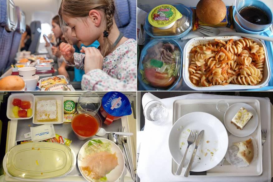 Essen im Flugzeug ist oft nicht unbedingt etwas, auf das man sich bei einer Reise freut