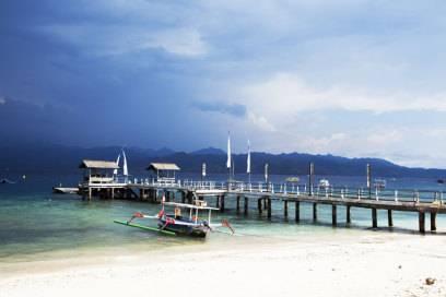 Der Hafen von Gili Trawangan