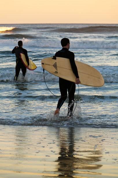 Wagen sich ins Revier der Raubfische: Surfer am New Smyrna Beach in Florida, wo es weltweit die meisten Hai-Angriffe gibt