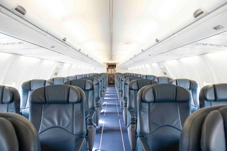 Sieht nicht aus wie eine Ryanair-Maschine? Ist es aber! Diese ausgebaute Boeing 737-700 kann gechartert werden