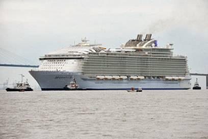 Mit einer Passagieranzahl, die einer Kleinstadt entspricht, wird die Harmony of the Seas die Weltmeere erkunden