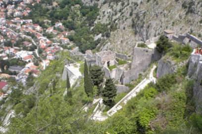 Die Festung von Kotor ist das touristische Wahrzeichen Montenegros